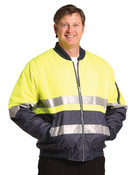 High Visibility Tow Tone Flying Jacket with 3M Tapes